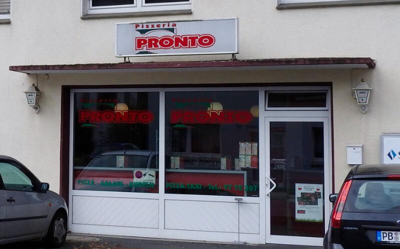 Pizzeria Pronto Lipperode finden Sie an der Bismarckstraße 11 im Zentrum von Lipperode gegenüber der ev Kirche